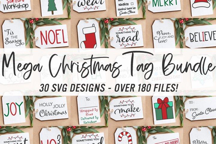 Mega Christmas Tags Bundle SVG |30 Christmas Tag Cut Files