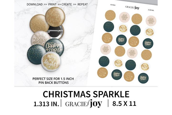 Christmas Sparkle 1.313 inch digital collage sheet
