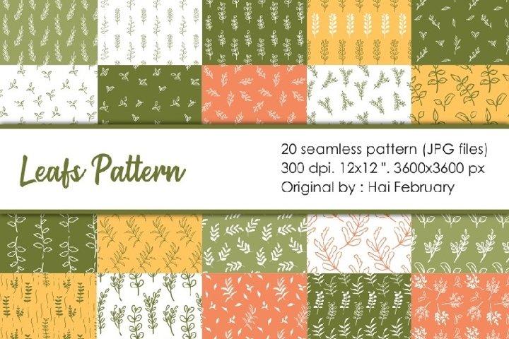 Leafs Paper Seamless Pattern