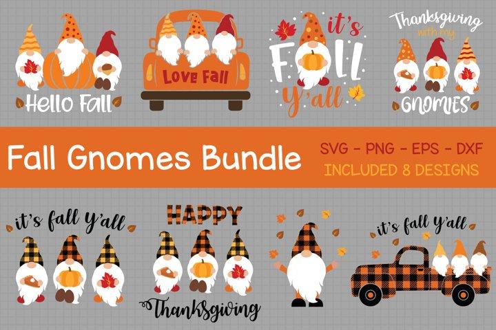 Fall Gnomes Bundle Svg