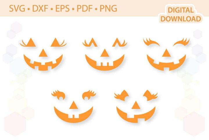 Jack-o-lantern Faces Pumpkin Faces .svg .dxf .eps .pdf .png