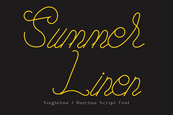 Summer Linen Single-line Font