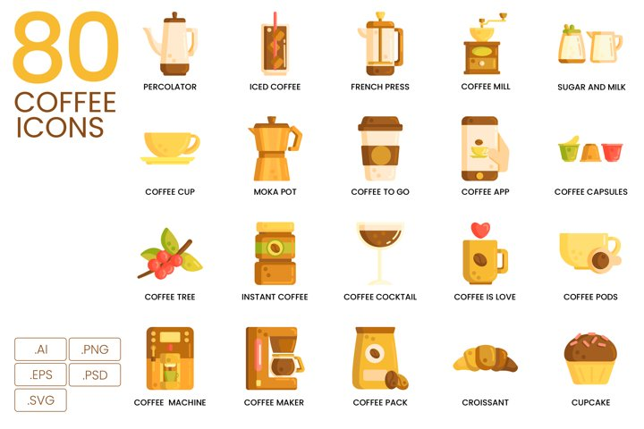 80 Coffee Icons