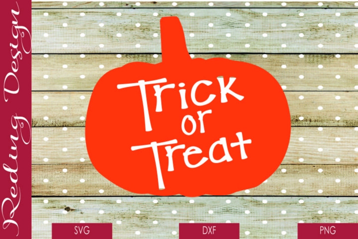Trick or Treat Pumpkin SVG DXF PNG Digital Cut