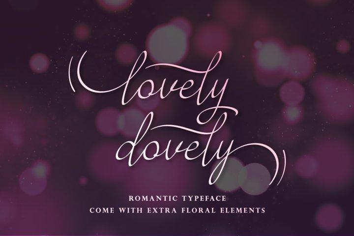 Lovely Dovely - script handwritten font