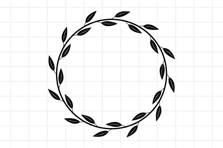 Leaf wreath SVG cut file.