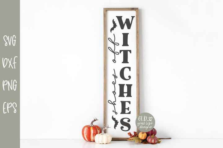 Shoes Off Witches - Vertical Halloween SVG