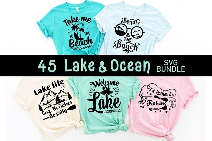 Lake & ocean Quotes SVG bundle, lake svg cut file, cut file