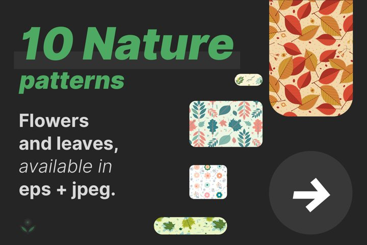 Nature Patterns Bundle, 10 in 1