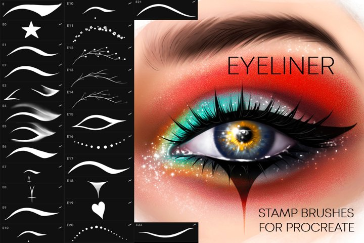 Procreate Eyeliner brushes Makeup