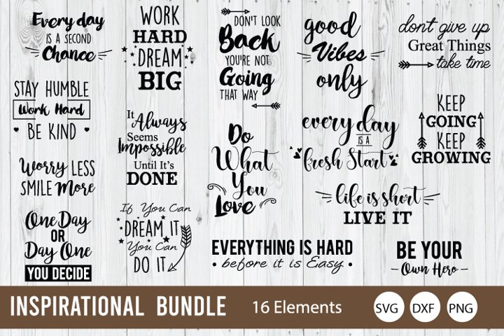 inspirational Bundle SVG, Motivation Quote SVG