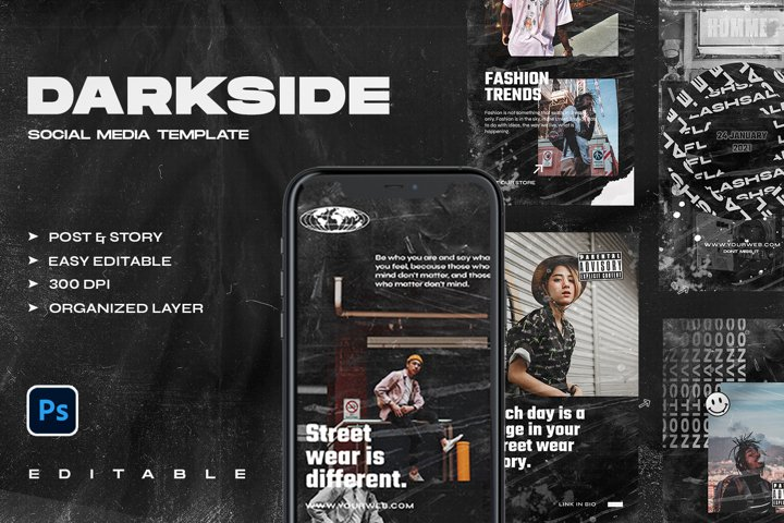 DARKSIDE - Instagram Stories & Post