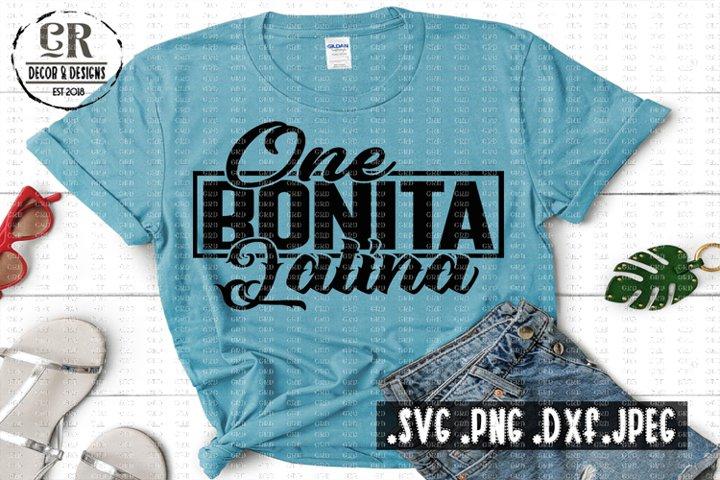 One Bonita Latina - Shirt Design Svg