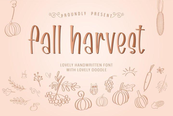 Fall harvest- A handwritten sans serif font