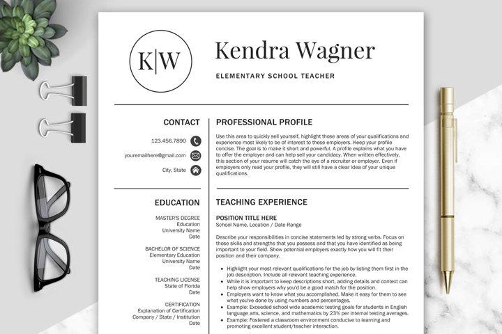 Resume Template / Teacher CV Templates