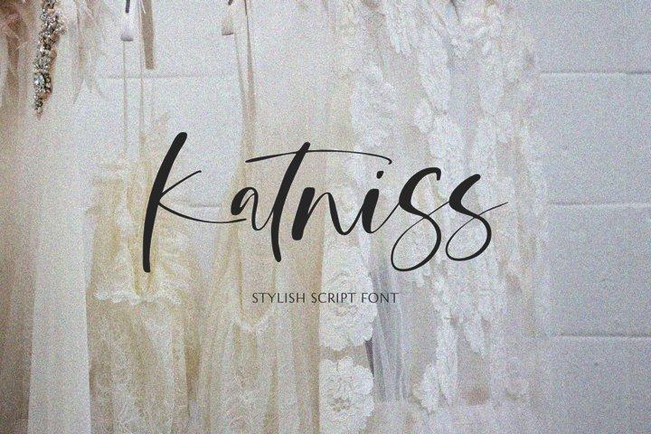 Katniss - A Stylish Script Font