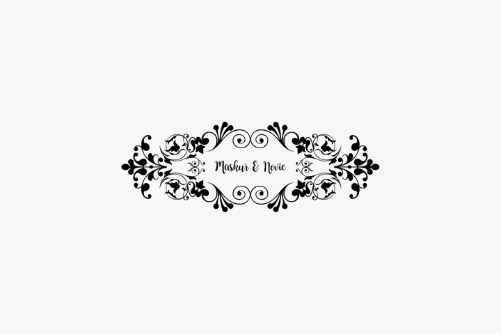 Ornament vector for wedding