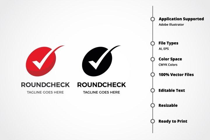 Round Check Logo