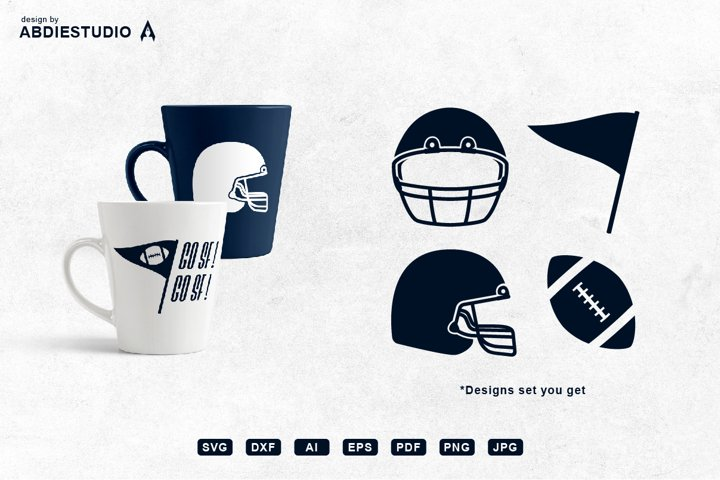American football Rugby SVG Set