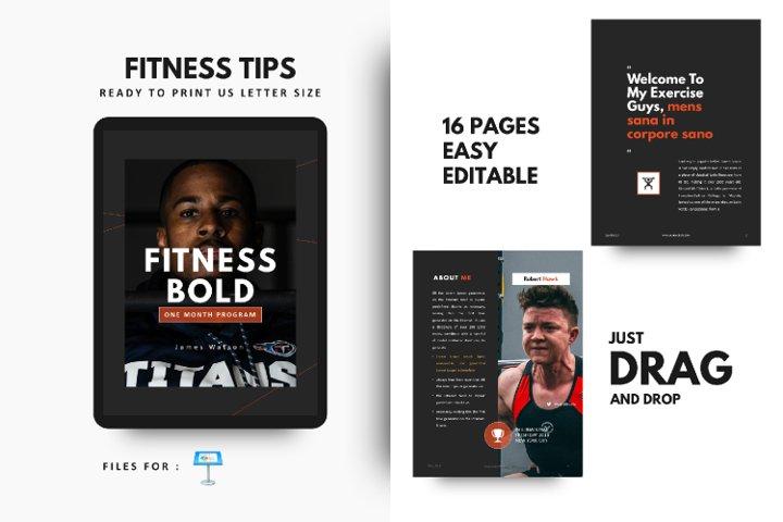Fitness Bodybuilding Motivation Template Keynote