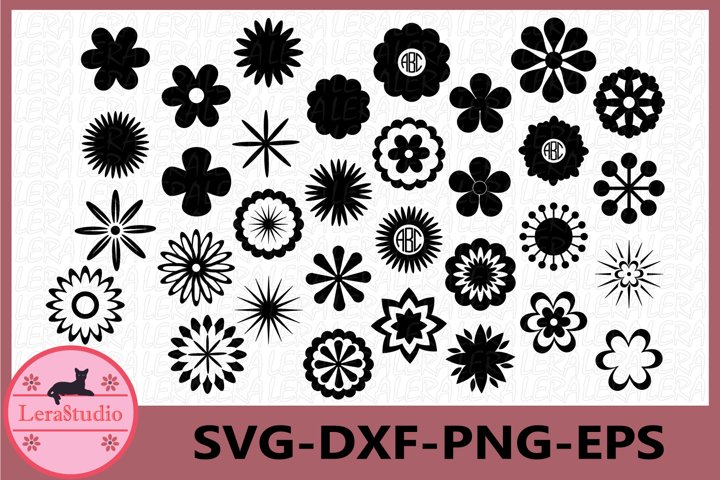 Flower Svg, Flower Templates Svg, Flowers Cutting Files