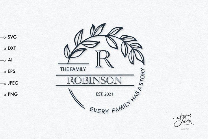 Family monogram svg, wedding monogram svg, cutting board svg