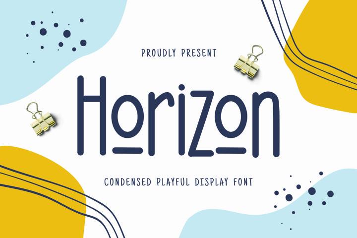 Web Font Horizon Display Font