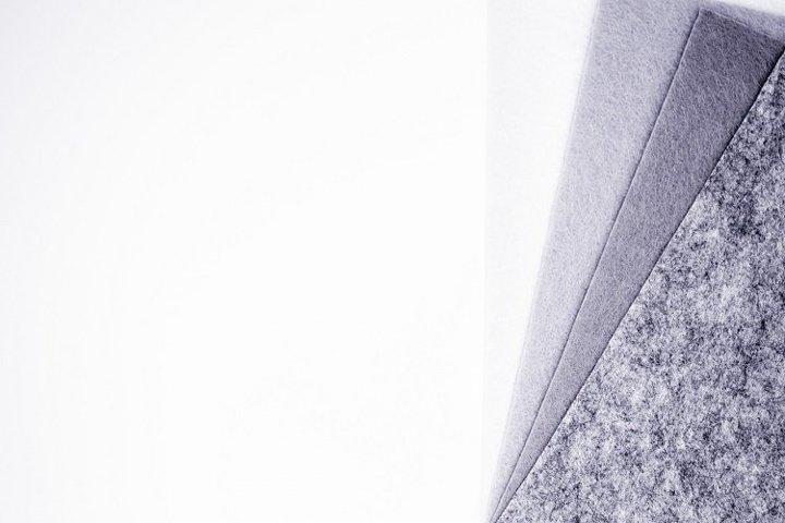 Pieces of grey felt - 10