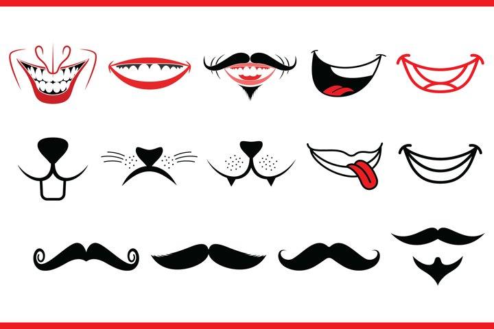 Funny Face Mask SVG Bundle, 14 Funny Designs for Mask - Free Design of The Week Design0