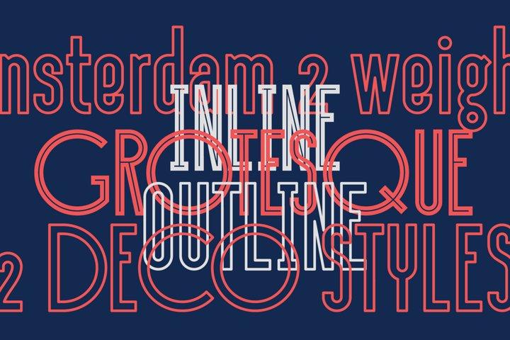 Sansterdam Inline & Outline - Free Font Of The Week Design4
