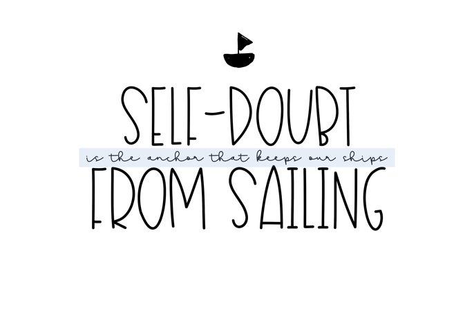 Sailboat - A Fun Handwritten Font - Free Font of The Week Design0
