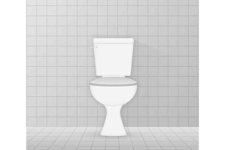 White ceramics clean toilet bowl icon.