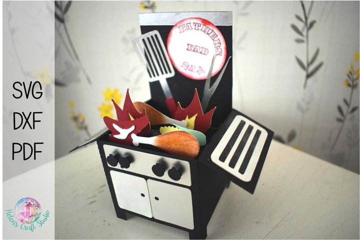 Grill pop up box card