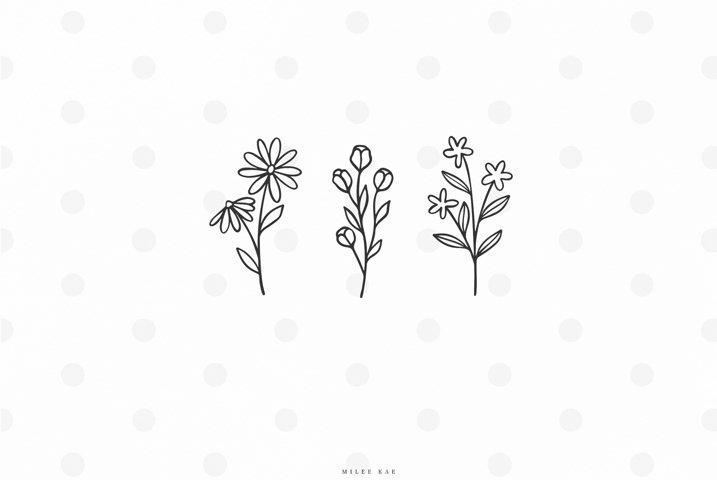 Wild flowers svg cut file