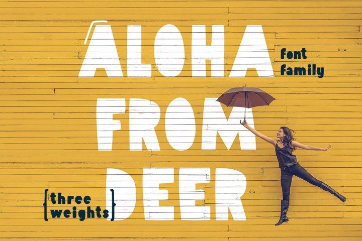 Aloha From Deer - Summer Font Family