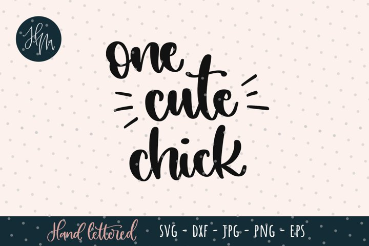 One cute chick SVG