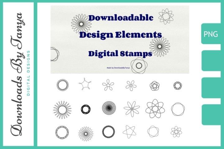 Digital doodles design elements