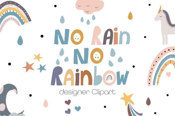 No Rain No Rainbow Clipart