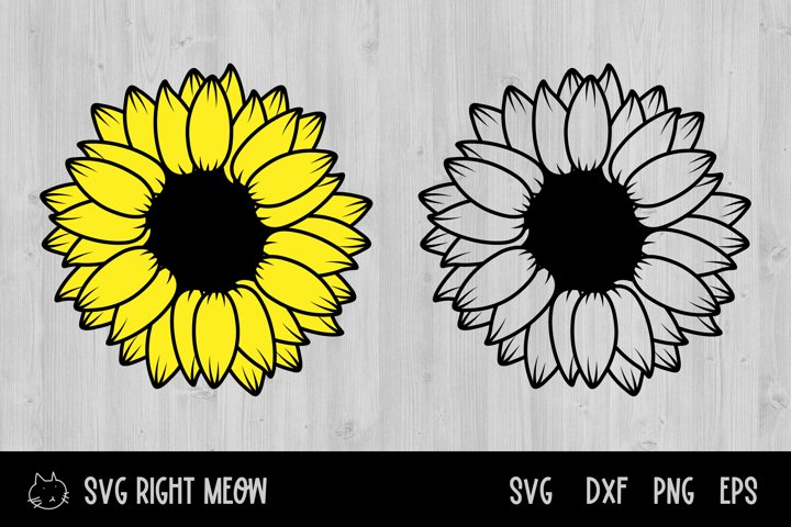 Sunflower SVG Bundle, Sunflower Sublimation SVG