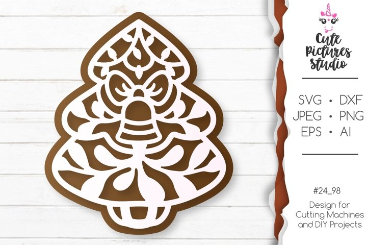 Christmas gingerbread set of Cricut SVG file, Gift tag svg example 3