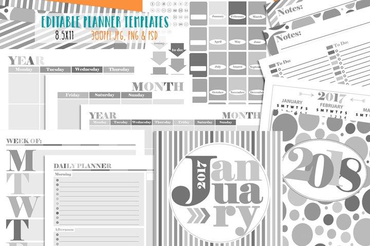 Customizable Planner Templates