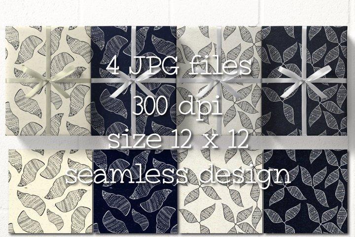 Boho Digital Paper, Seamless Patterns