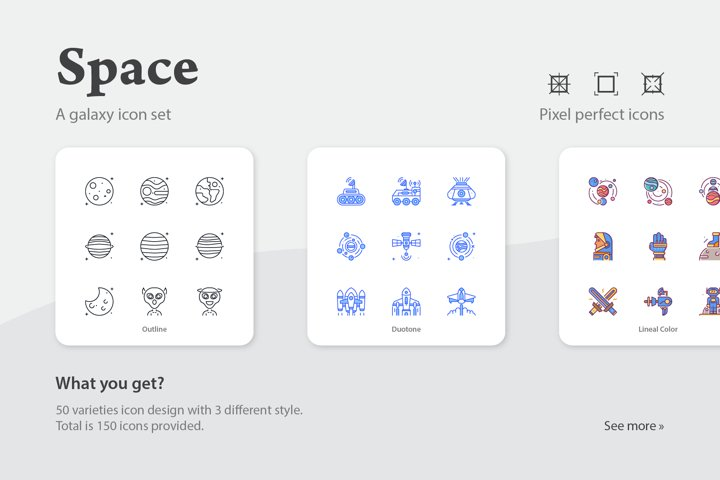 Space Galaxy Icon Set