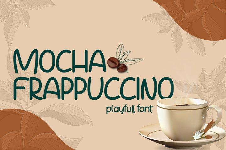 Mocha Frappuccino Playfull Font