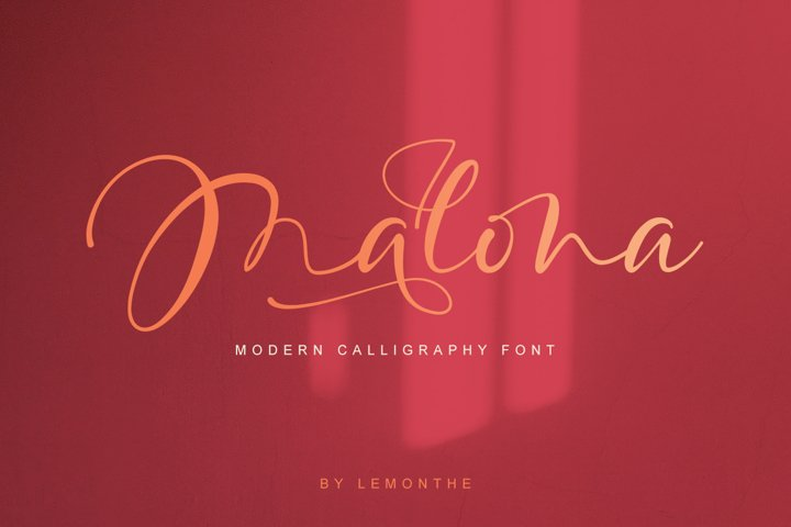 Malona - Modern Calligraphy Font