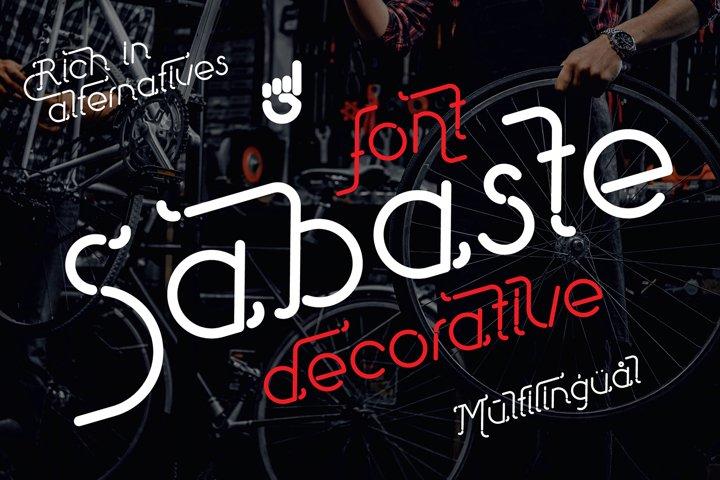 Sabaste - decorative italic