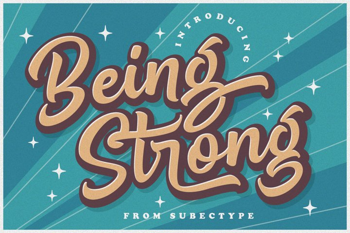 Being Strong Layered Font
