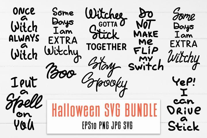 Halloween SVG Witch Quotes BUNDLE / T-shirt design