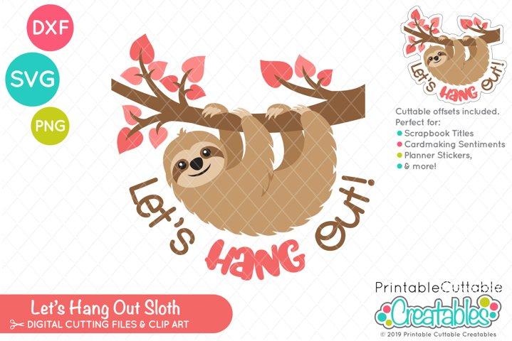 Valentines Day Sloth SVG