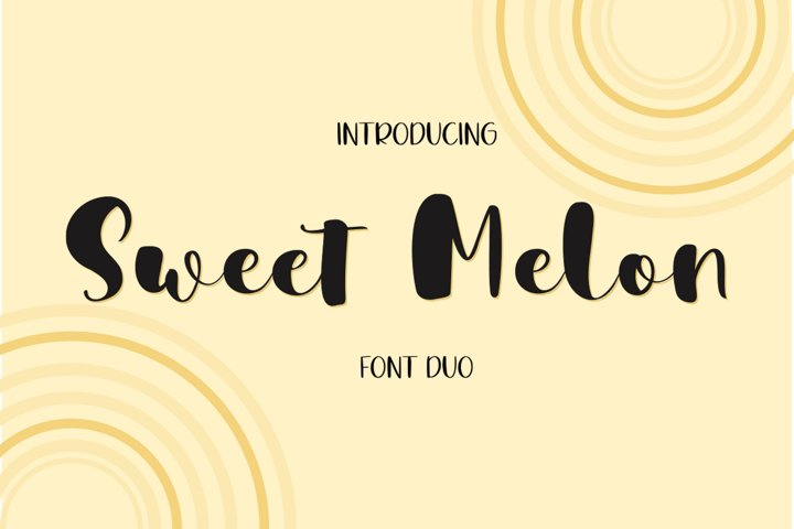 Sweet Melon Font Duo